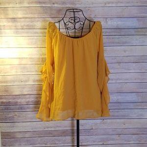 HeartSoul L goldenrod yellow long sleeve top